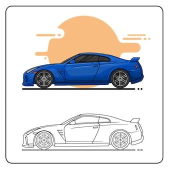 Blaues sport-auto