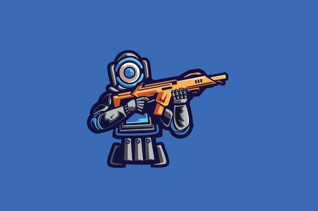 Blaues sport-logo der armee-e