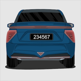 Blaues suv auto