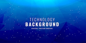 Blaues Technologiekonzept-Hintergrunddesign