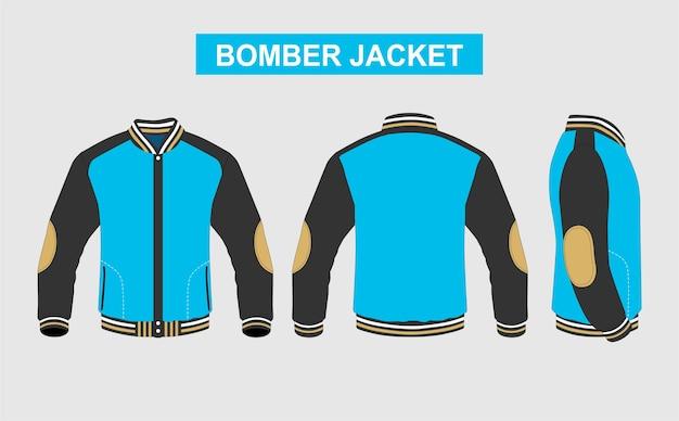Blaues tosca bomber jackendesign