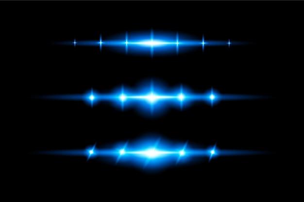 Blaues transparentes licht lens flares design eps