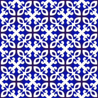 Blaues und weißes chinesisches muster