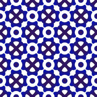 Blaues und weißes modernes muster