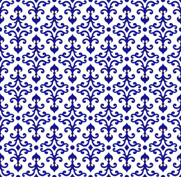 Blaues und weißes muster