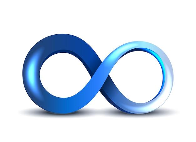 Blaues unendlichkeitssymbol