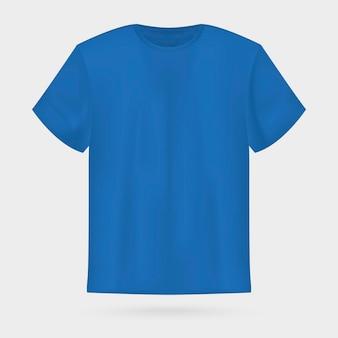 Blaues vektor-t-shirt-modell für herren.