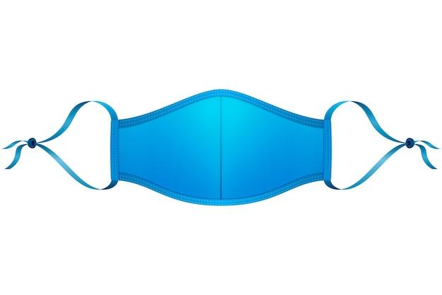 Blaues verstellbares gesichtsmasken-lanyard