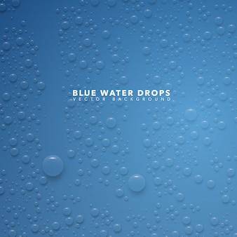 Blaues wassertropfen