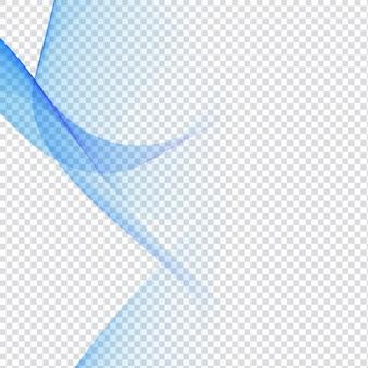 Blaues wellen-design auf transparenten hintergrund