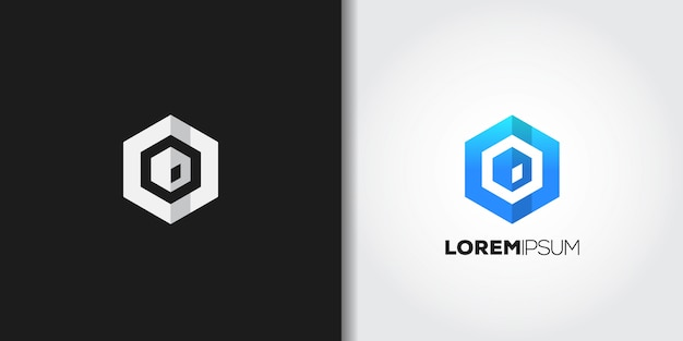 Blaues würfel-logo