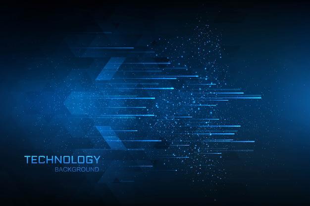 Blauhintergrund des digitalen konzeptes der technologie