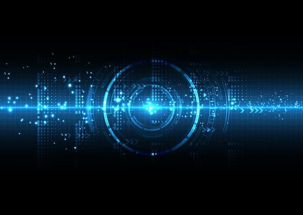 Blaulicht-futuristische technologie