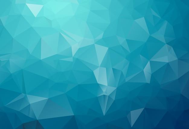 Blaulicht polygonale darstellung, die aus dreiecken bestehen. geometrischer hintergrund in der origami art mit steigung. dreieckiges design für ihr unternehmen.