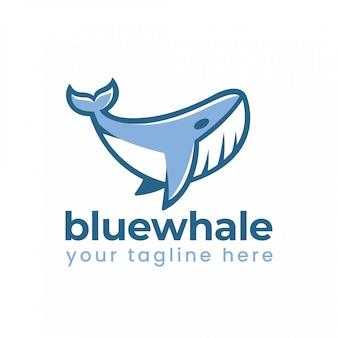 Blauwal-logo Premium Vektoren