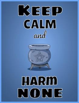Bleib ruhig und verletze niemanden
