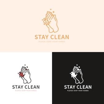 Bleiben sie sauber logo-konzept