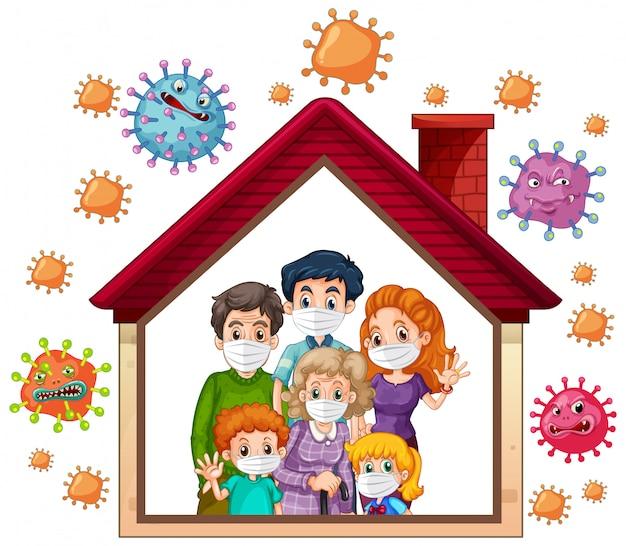 Bleiben sie zu hause, um coronavirus zu verhindern