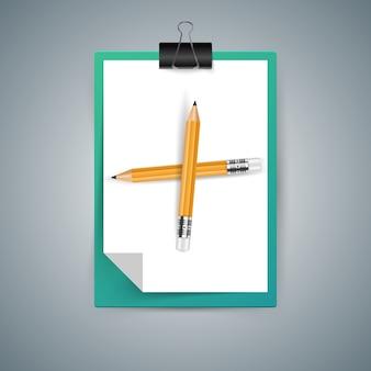 Bleistift, bildungsikone. geschäft infographic vektor env 10