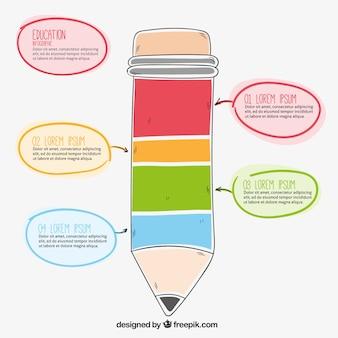 Bleistift infografik