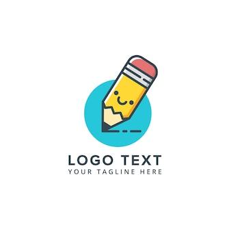 Bleistift logo bildung logo vorlage