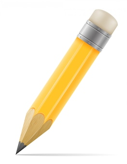 Bleistift mit radiergummi für zeichnungsvektorillustration