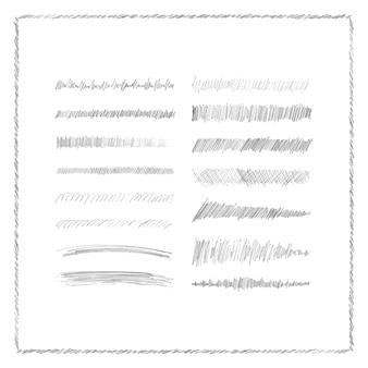 Bleistift pinselstriche