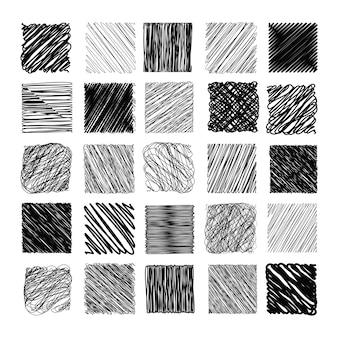 Bleistift-skizzen-beschaffenheits-vektor-satz