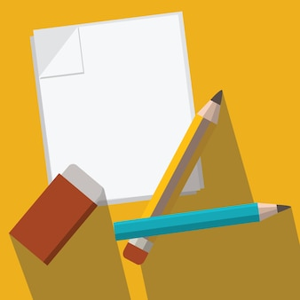 Bleistift und papier vektor