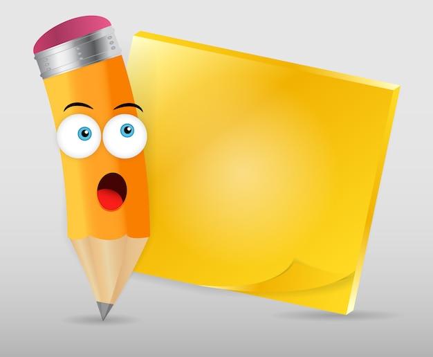 Bleistift und post-it