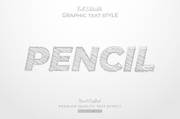 Bleistiftskizze bearbeitbarer textstileffekt