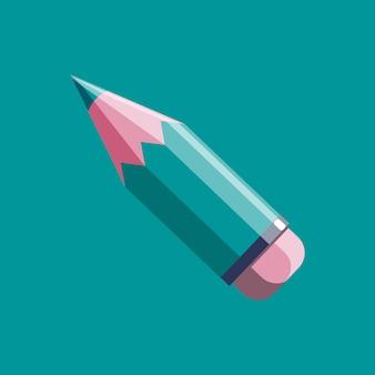 Bleistiftvektorikone in der modernen flachen art