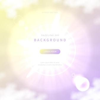 Blendender himmelshintergrund mit weicher farbverlaufsfarbe