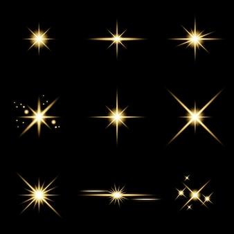 Blendstern funkelndes lichteffekt-set