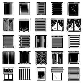 Blinde ikonen eingestellt, einfacher stil