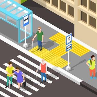 Blinder fußgängerüberweg