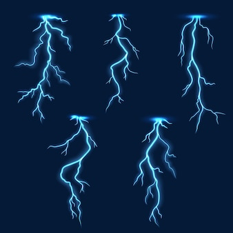 Blitz blitz, gewitter elektrischer blitz effekt auf hintergrund