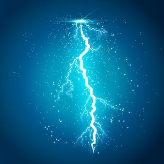 Blitz blitzlicht donner funken auf einem transparenten hintergrund
