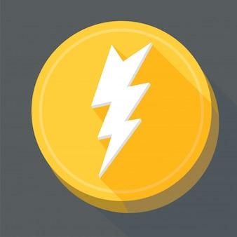 Blitz flache symbole