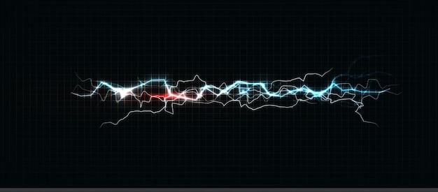 Blitz in verschiedenen farben, leuchtender blitz und blitzschlag