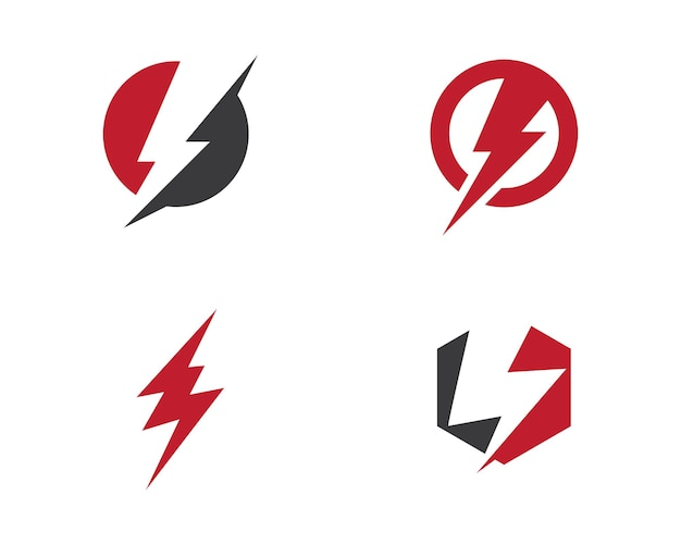 Blitz logo vorlage vektor icon illustration design