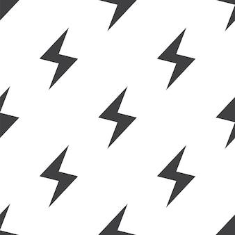Blitz, nahtloses vektormuster, bearbeitbar kann für webseitenhintergründe verwendet werden, musterfüllungen