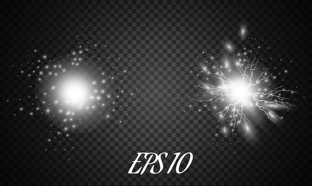 Blitz und lichtwirkung ein symbol für natürliche stärke oder magie