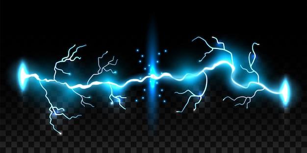 Blitze, donnerschlag, sturm, funkelnde magie.
