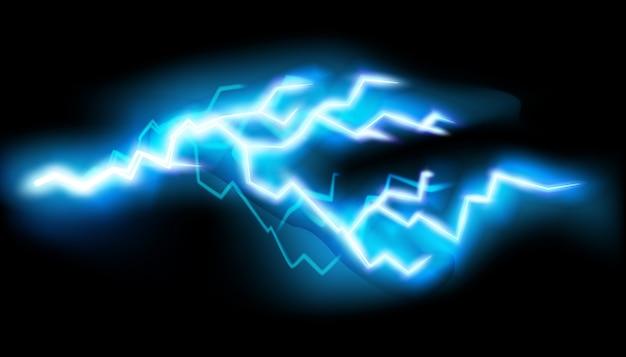Blitze, lokalisiert auf transparentem hintergrund.