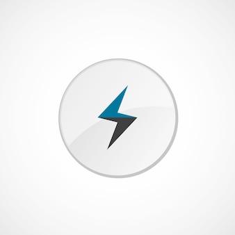 Blitzsymbol 2 farbig, grau und blau, kreisabzeichen