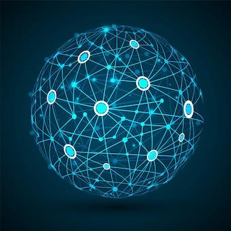 Blockchain auf der erde für die vernetzung.