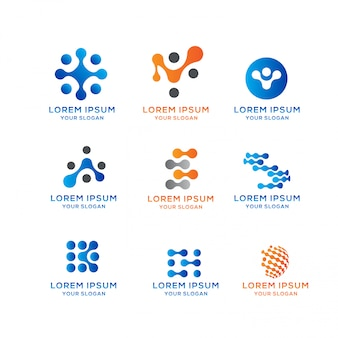 Blockchain connection-logo-sammlung