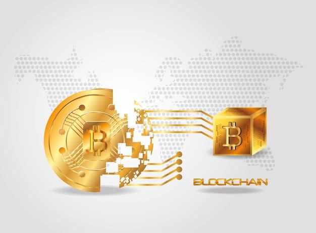 Blockchain-design-konzept