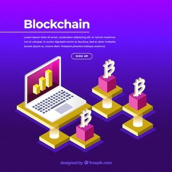 Blockchain-konzept für die zielseite